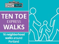 2015 Ten Toe Express. 16 Neighborhood Walks throughout inner-city Portland. FREE! Thursdays @ 6PM ~ Saturdays @ 9AM. Join the fun. Info Here!