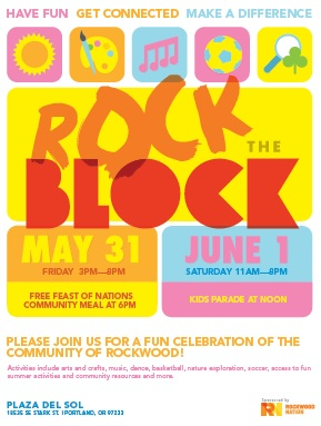Join the Fun at Plaza del Sol, Rock the Block with Rockwood Nation: May 31, 2013 3PM-8PM