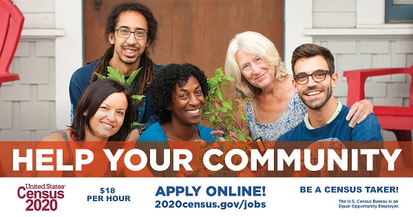 Help Your Community: Work for the U.S. Census Bureau! Positions are temporary and flexible. Census Takers in Multnomah and Clackamas counties start at $18.00/hour. Info Here!