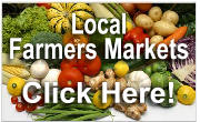 Farmer's Markets are a fantastic source for fresh, seasonal, locally produced foods and artisan products. Come experience the market. SNAP/EBT welcome!  Click here for a list of local markets!