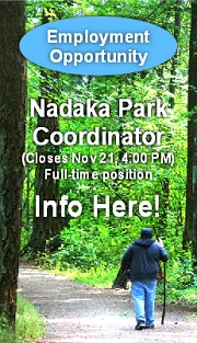 Nadaka Park Coordinator. Full-time, Benefits, 40 hours per week. Establish and grow innovative nature- and place-based educational programs and community-building at Nadaka Nature Park. Apply here!