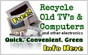 Wondering what to do with those broken or un-wanted TV's and computers? Oregon E-Cycles® offers FREE and convenient electronics recycling in your own neighborhood. Info Here!