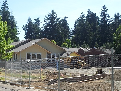 Albertina Kerr Project Phase I; Jul 17th Construction Update; Subacute facility takes shape. Click to enlarge.