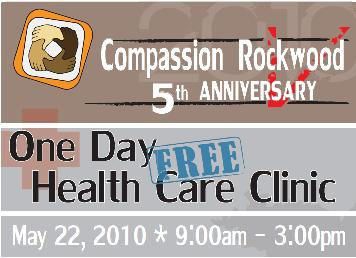 One Day Free Health Care Clinic; Medical/Dental, Vision, and more: May 22, 2010 9AM-3PM. Info here!