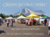 Gresham Saturday Market 2019: Sat, Jun 28, 2019 9AM-3PM. Saturday's thru October. Info here!