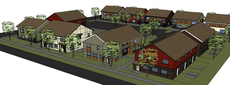 Habitat for Humanity Portland/Metro East breaks ground March 2015 on Glisan Gardens, located at 165th and northeast Glisan Street, in the Rockwood neighborhood. Info here!