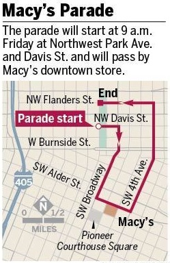 Click for Portland Macy's Parade Route Map!