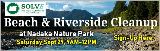 Join Friends of Nadaka for the Solv Annual Beach & Riverside Cleanup at Nadaka Nature Park on Saturday, September 29th 9AM to 12PM! Tools, gloves, and light refreshments provided. Bring a water bottle and a friend! Register Here!