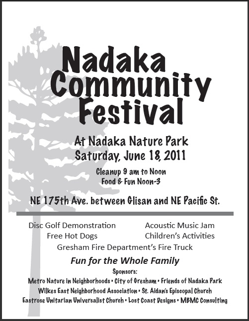 Nadaka Community Festival. Fun for the Entire Family. Music, Food and  Activities: Jun 18, 2011 12PM-3PM. Info Here!