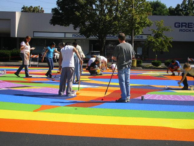 Rockwood Paints It Bright!  Meet the new Plaza Del Sol! Gresham, Oregon.  Click for info!