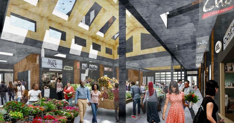 Downtown Rockwood market hall gets redesign. Gresham Mayor voices concerns about completing long-brewing development. Info here!