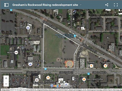 Rockwood Rising project. Aerial map