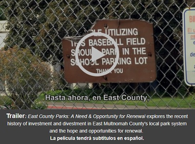 Click to view trailer!<br />  East County Parks: A Need & Opportunity for Renewal: Sat Jun 02, 2018 10:30AM-12:00PM. Support our public parks! Info Here!