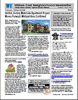 Fall 2015 Wilkes East Neighborhood newsletter. Click to view!