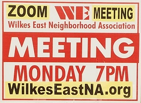 Watch for these red & white Meeting Signs the week before our meeting.