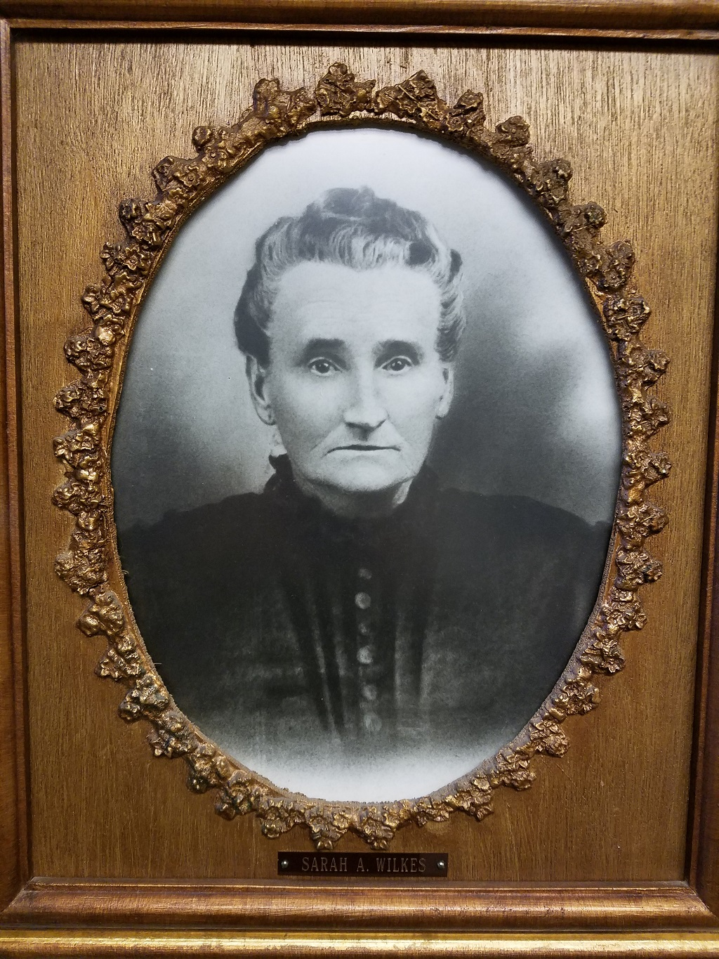 Sarah A Wilkes, wife of William C Wilkes, east Portland pioneer 1850's. Click to enlarge